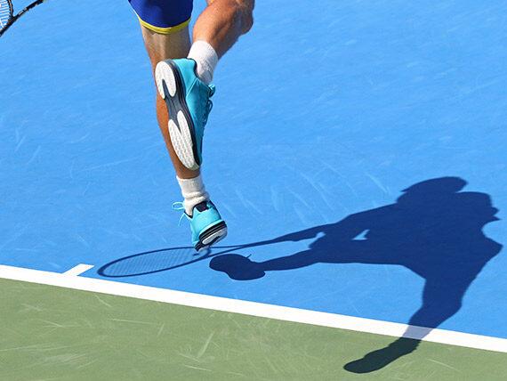 Sollicitation pied tennis
